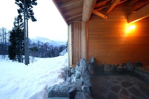 野尻湖高原バートンホテルの露天
