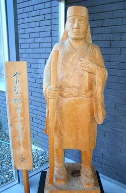 一茶記念館の像