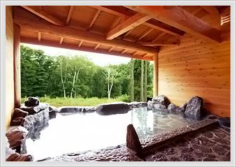 長野の景色を楽しめる露天風呂