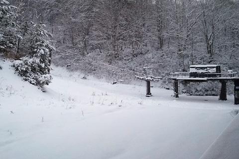 リフト前の雪景色